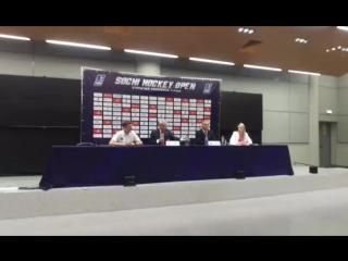 Пресс-конференция после матча Россия - Канада