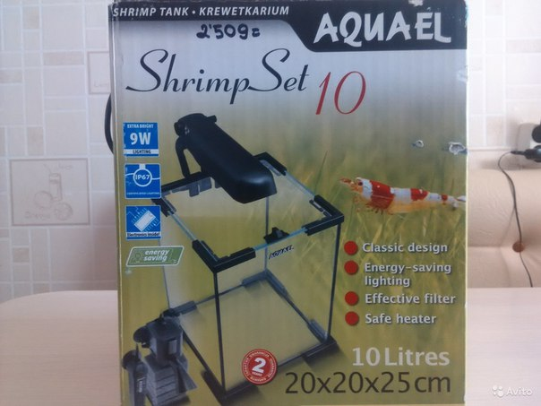 #NMK_аквариум Аквариум-креветочник комплект полный (свет, подогрев, ф