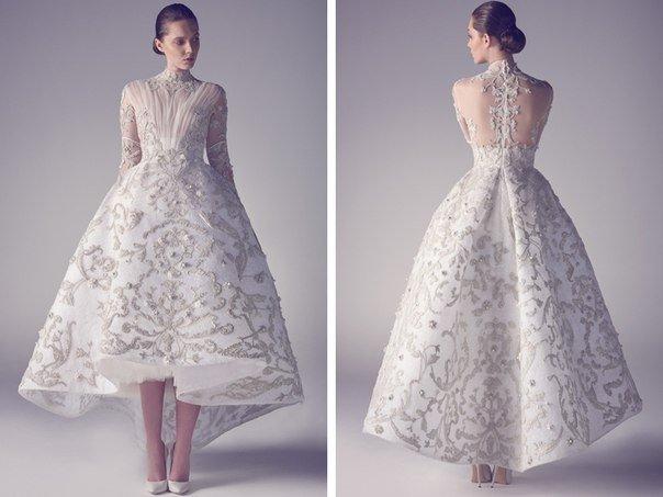 Зимняя коллекция свадебных платьев от кутюр