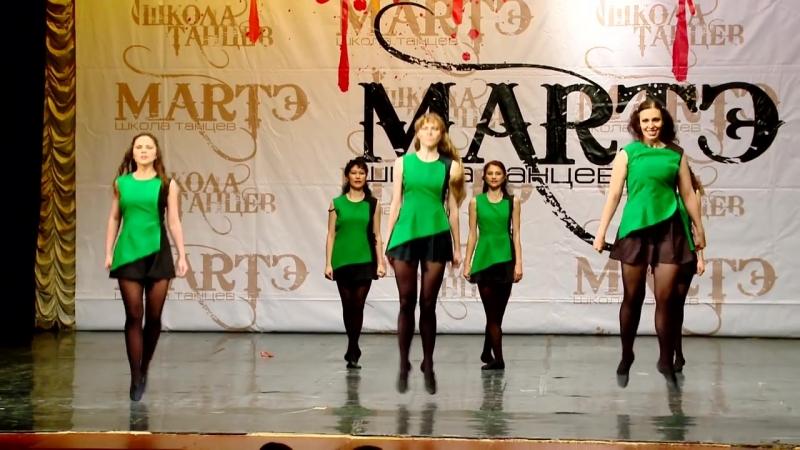 Народные танцы мира. Ирландский танец Reel в школе танцев МАРТЭ 2013г.