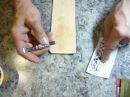 4. Карвинг. Картхолдер Making leather cardholder. Прорезаем рисунок на коже поворотным ножом
