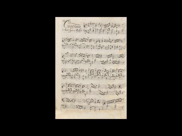 Georg Muffat Ciacona Apparatus musico organisticus