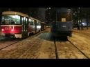 Moscow trams Московский трамвай на конечной кольцевой НашеЗавтра