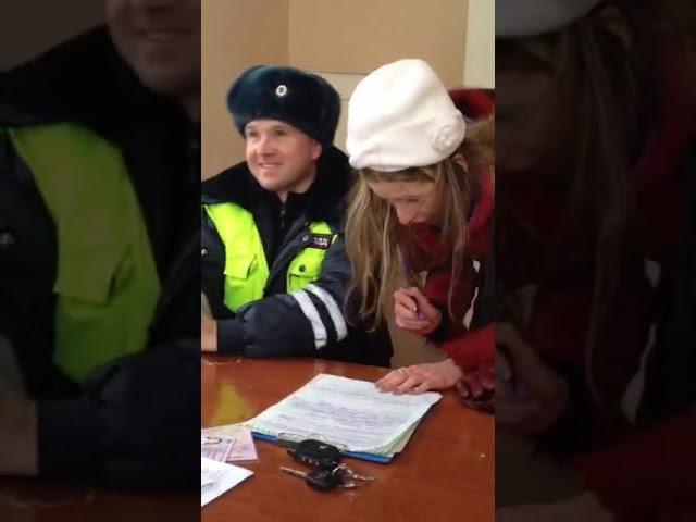 Девушка под солью в отделении полиции