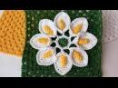 Цветок в бабушкином квадрате крючком. Вязание крючком с Еленой Кирпичниковой