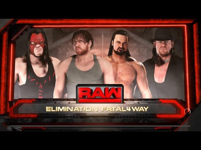 SBW Raw - Drew McIntyre vs Dean Ambrose vs The Undertaker vs Kane