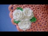 Rosa e Foglia Uncinetto Tutorial - Rose Leaf Crochet - Rosa Folha Croche