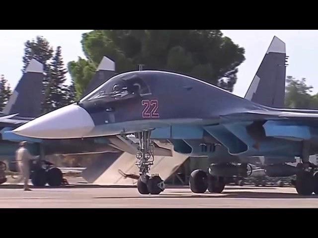 Видеонарезка Су 34 в Сирии