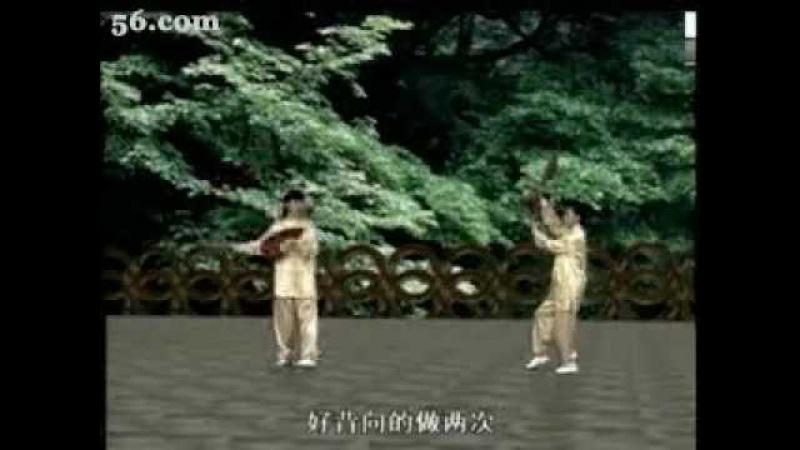 THÁI CỰC SONG PHIẾN ĐOẠN 3莲花太极双扇三段教学 宗光耀 樊锦虹 方美燕
