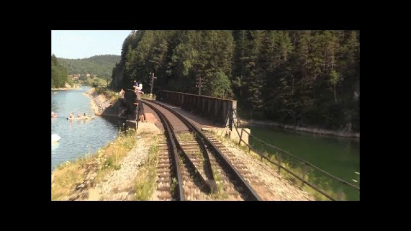 Train Driver's View: Cab Ride in Summer- Speed the Lake!