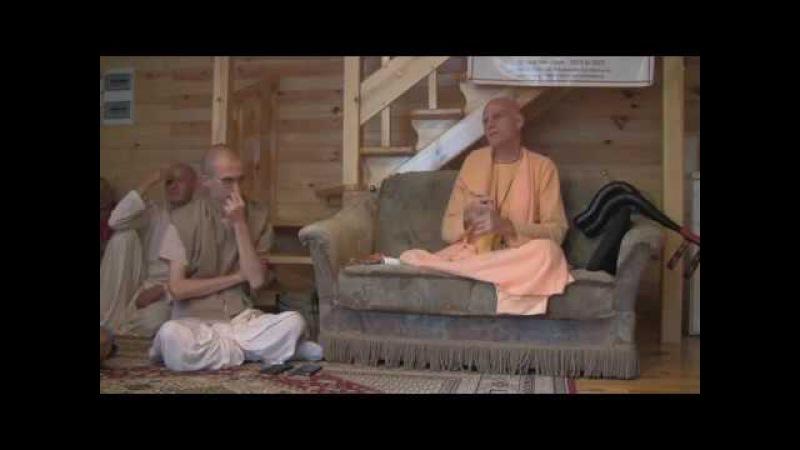 Е.С. Бхакти Рагхава Свами - неформальная беседа на Бхакти-Сангаме о дхарме, земледелии, защите коров