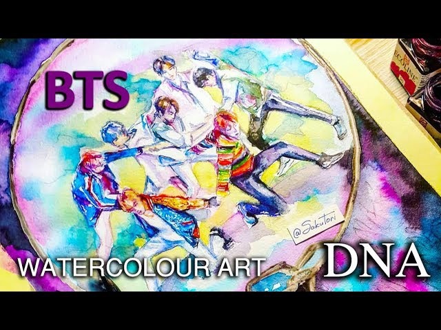 BTS (방탄소년단) DNA A.R.M.Y 's galaxy Speed Drawing by SakuTori