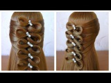 Coiffure avec noeud papillon cheveux long/mi long  Hair bow tutorial Hairstyle for long medium hair