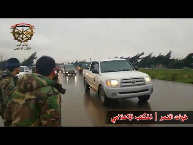 Колонны техники Армии Сирии едут на штурм Восточной гуты