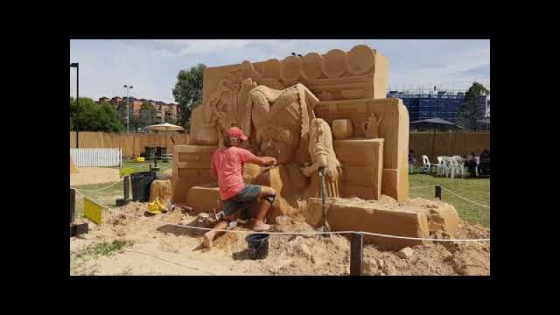 Как Делают Скульптуры из Песка - Фигуры на тему 🍄