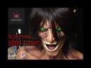 Sculpting Eren Titan Attack on Titan Shingeki no Kyojin Timelapse Sculpt and Airbrush Demo