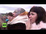 UK Pagans, Druids and Witches gather at Stonehenge for Winter Solstice
