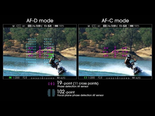 Sony A99 - AF-D AF-C Modes