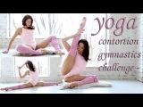 yoga contortion gymnastics challenge - flexibility,, yoga