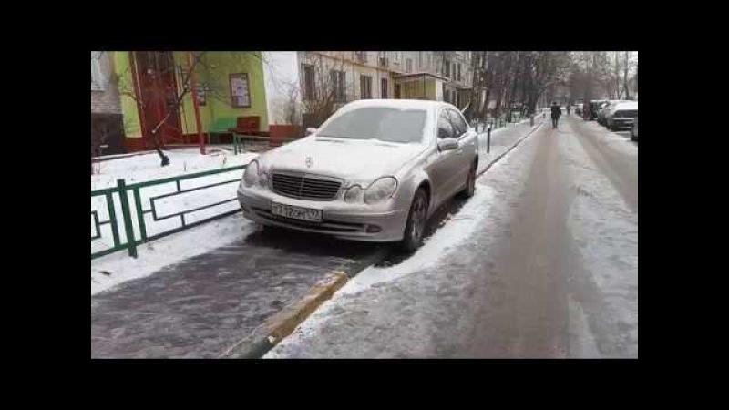 Продолжается стоянка на тротуаре по Сталеваров 12-2 VID 20180116 112547