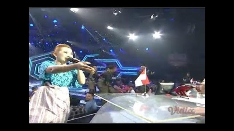 Bintang Tamu Malam Result Show DAA3 Upiak Usil Membawakan Lagu Tung Tang Tiang