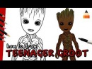 How To Draw Groot Teenager | The Guardians Of The Galaxy