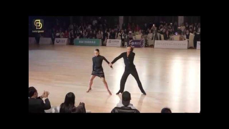 Nino Langella - Andra Vaidilaite (ITA)   Asian Dance Tour 2018 Shanghai - Pro LAT - F solo S