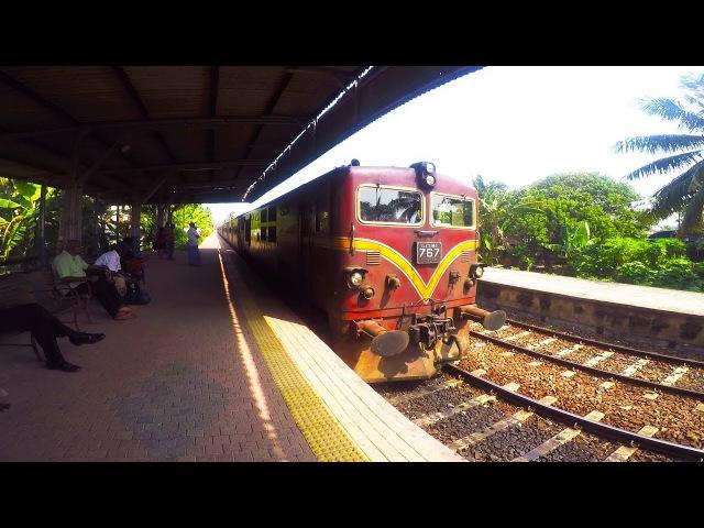 4Sri Lanka, Шри Ланка 2017 Железная дорога, Хиккадува-Коломбо, railway sri Lanka.