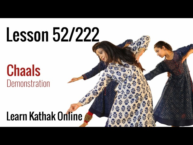 Chaals Demonstration in Kathak for Beginners | Learn Kathak Online | Lesson 52222