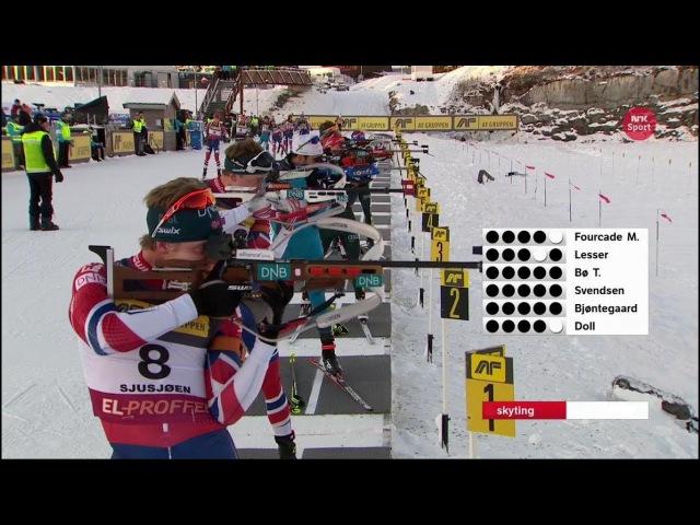 Biathlon - Men's Mass Start - Sjusjøen - SESONGSTART SKISKYTING 19/11/2017