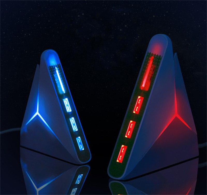 Зачтный ХАБ 3 порта USB + для карт И Светится