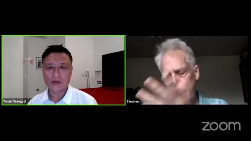 Встреча Тензина Вангьяла Ринпоче со Стивеном Лабержем