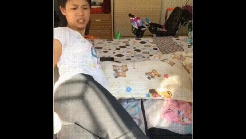 Video, girl prunk