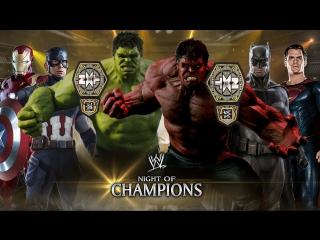 Халк и Красный Халк (с) против Капитана Америки и Железного Человека против Бэтмена и Супермена