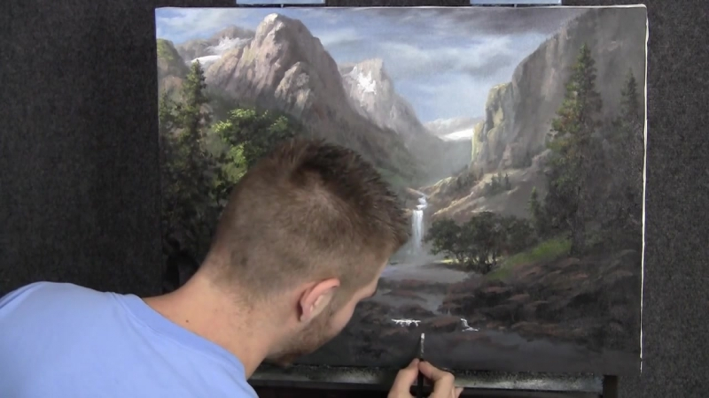 Painting - Sunlit Mountain Pass - Paint with Kevin Hill