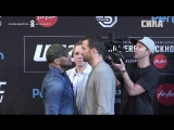 UFC 221  Romero vs Rockhold - Press Conference Faceoffs
