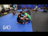 Marcelo Garcia training with Joel Tudor at Studio 540