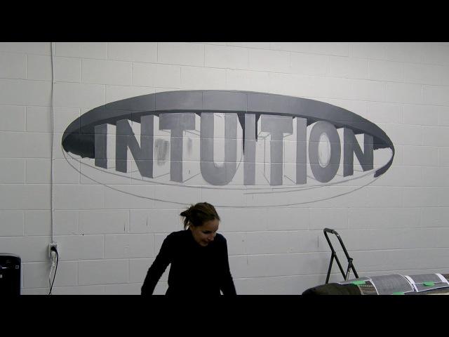 Peeta Cinta Vidal Intuition Logo Mural Timelapse