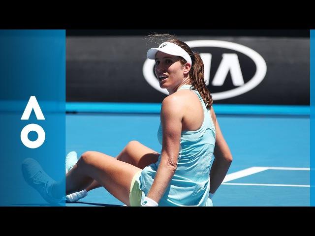 Johanna Konta v Bernarda Pera match highlights (2R) | Australian Open 2018