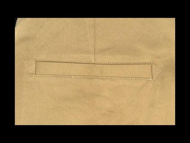 How to sew single welt pant pocket