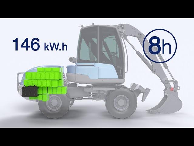 MECALAC e12: a 100%-electric excavator for urban building sites