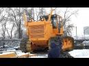 Отгрузка бульдозера-болотохода Б10МБ PROFFI производства «Росальянс» на Мыс Каменный ЯНАО