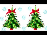 How to make Table top Christmas Trees from Paper   DIY Christmas Crafts