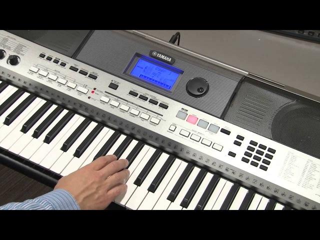 Запись собственного исполнения (функция SONG) на инструменте Yamaha PSR-E443
