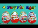 4 Surprise Eggs, Kinder Surprise, Ice Age, Kinder, Natoons, Animal Planet.