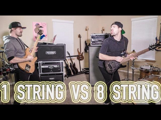 1 string vs 8 string guitar