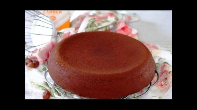 Бисквит с какао порошком и сметаной