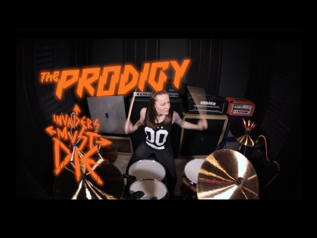 The Prodigy - Invaders Must Die (drum cover by Vicky Fates)