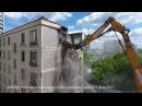 Дрон снял снос последней пятиэтажки серии К-7 в Wellton Park СЗАО