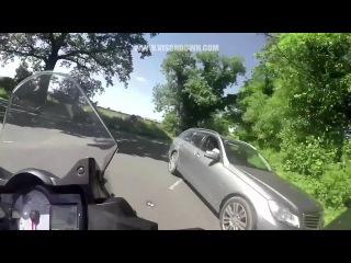 Motorcycle Helmet Cam: near miss at junction | Monday Motorbike Mayhem